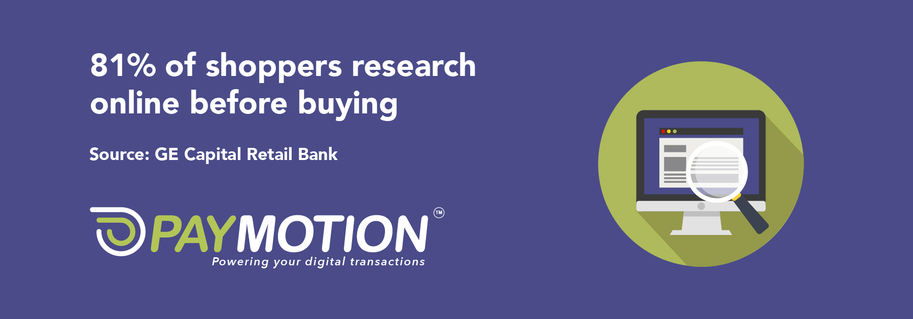 Origins Ecommerce, 81% of shoppers research online before buying image