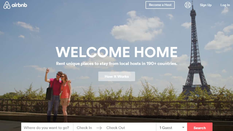 AirBnB experiments with many different hero images