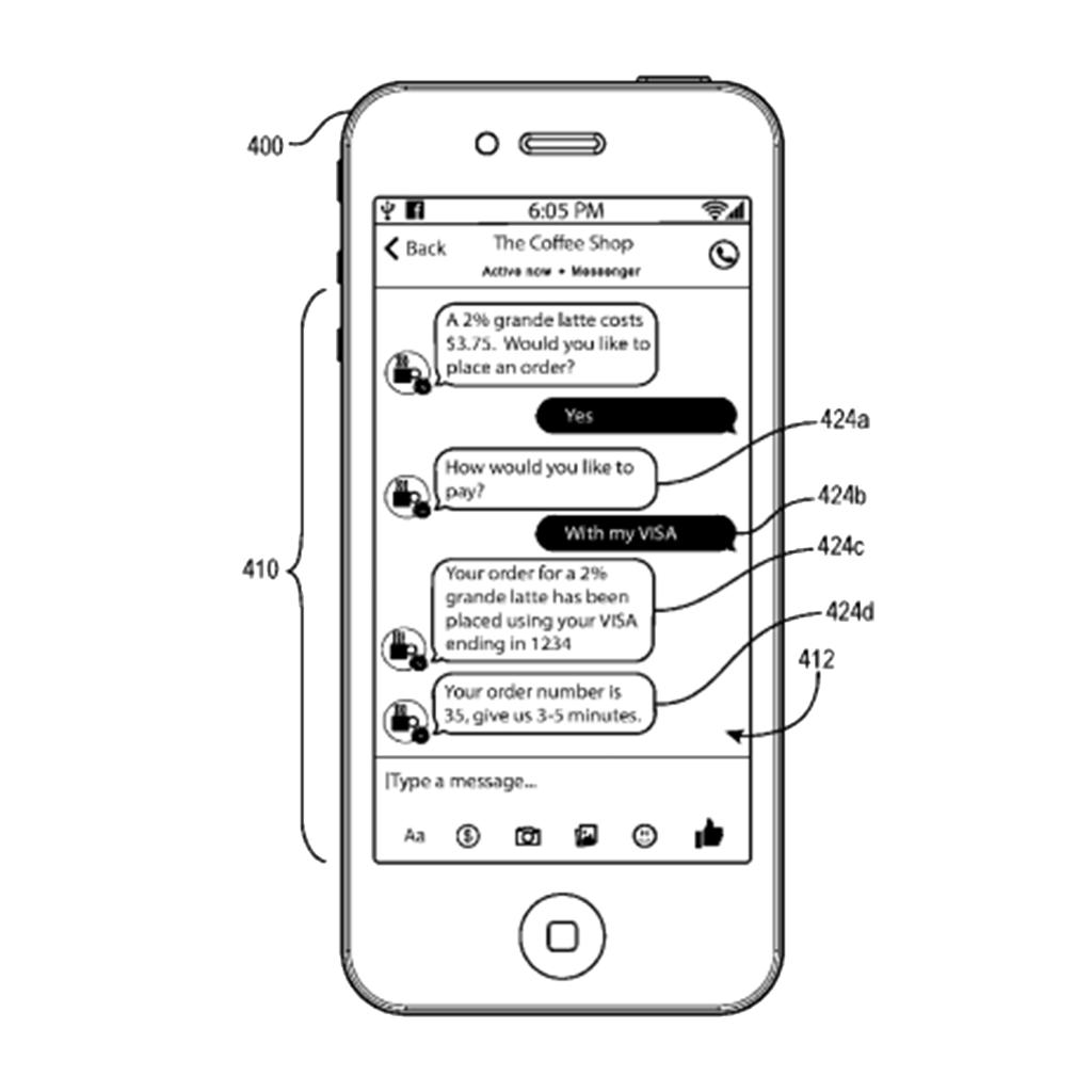 """""""Processing Payment Transactions Using Artificial Intelligence Messaging Services"""" Patent Concept"""
