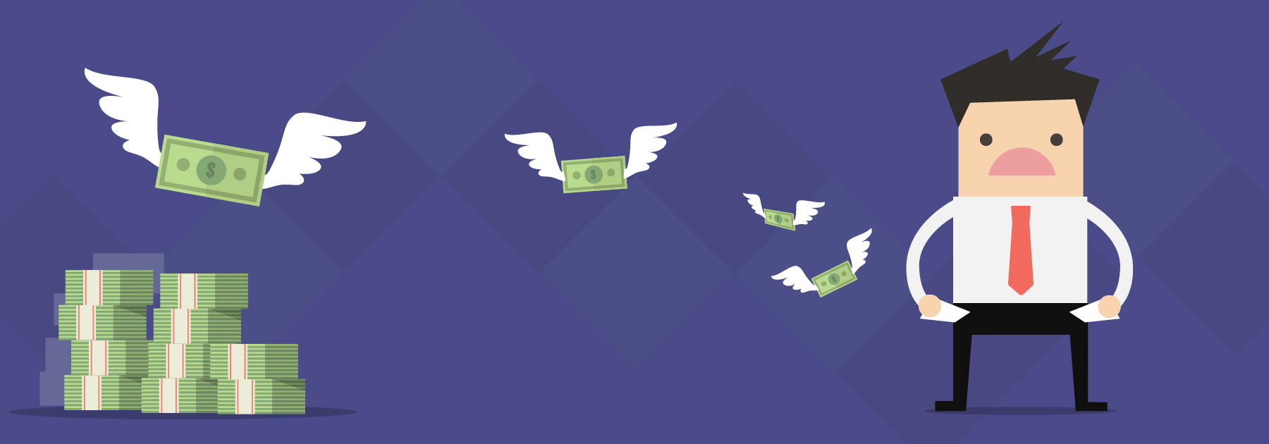 Money flying out of persons pocket - Origins Ecommerce